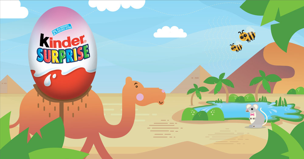 Copy: There's a whole world to explore with KINDER® SURPRISE®!