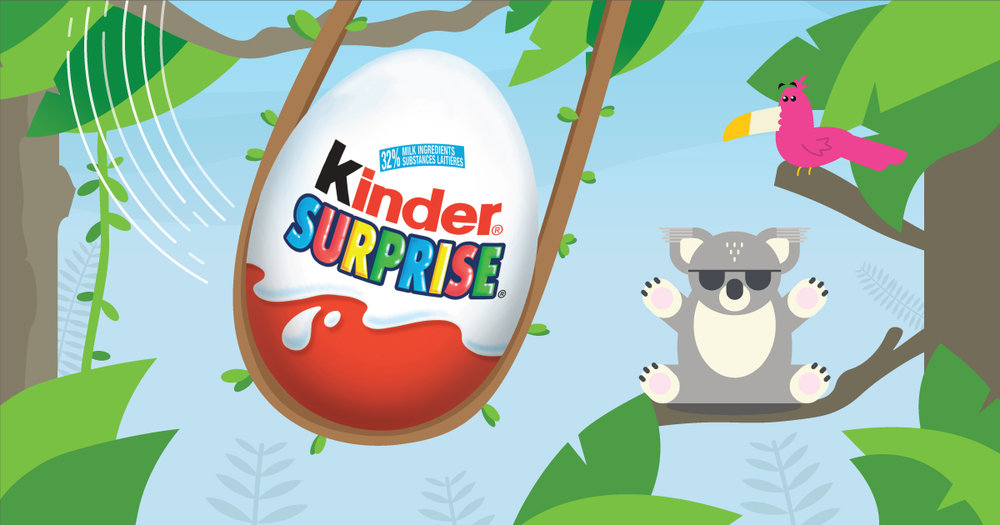 Copy: Get your little ones into the swing of things this July with KINDER® SURPRISE®!