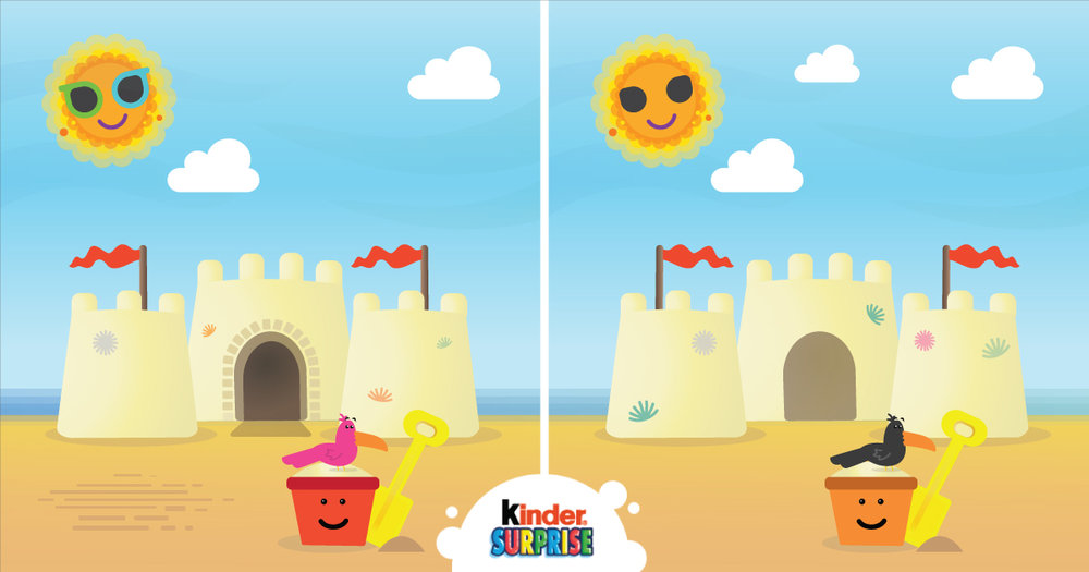 Copy: Can your little ones spot the difference with KINDER SURPRISE!