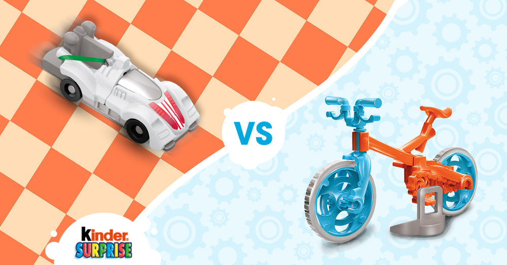 Copy: What would you take for a summer cruise? The BMX bike or the sporty race car?