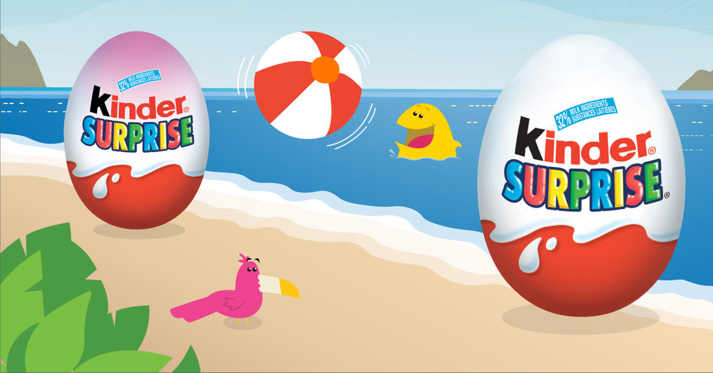 Copy: Your little ones will have a ball with KINDER® SURPRISE®!