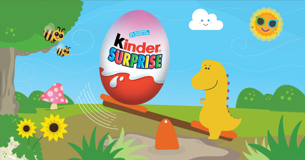 Copy: Fun is always just around the corner with KINDER® SURPRISE®!