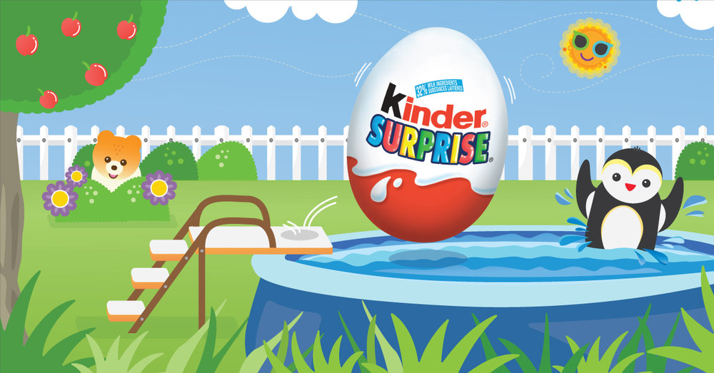 Copy: Make a splash this summer with KINDER® SURPRISE®!
