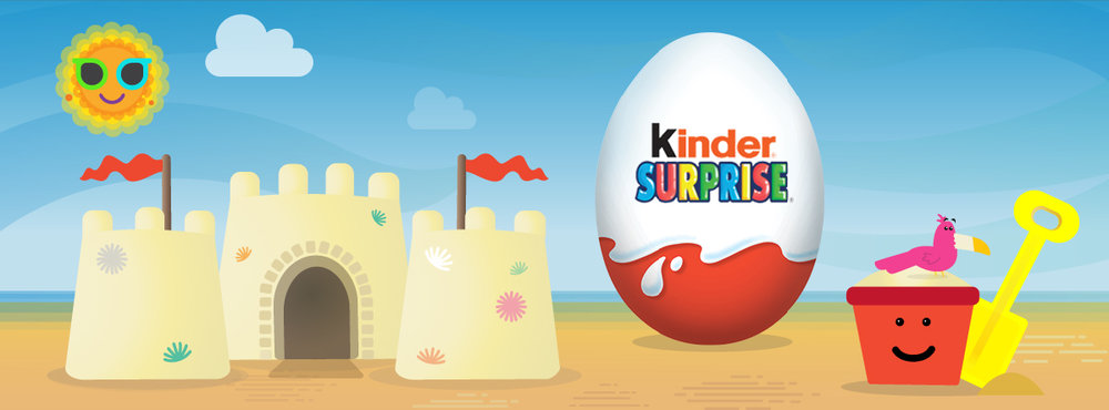 Kinder Surprise, Facebook Like Ad 1,200 x 444