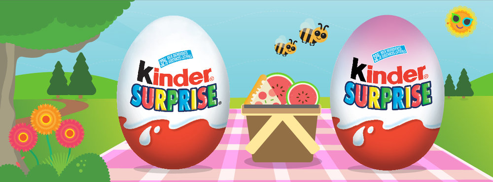 Kinder Surprise: Facebook Like Ad 1,200 x 444
