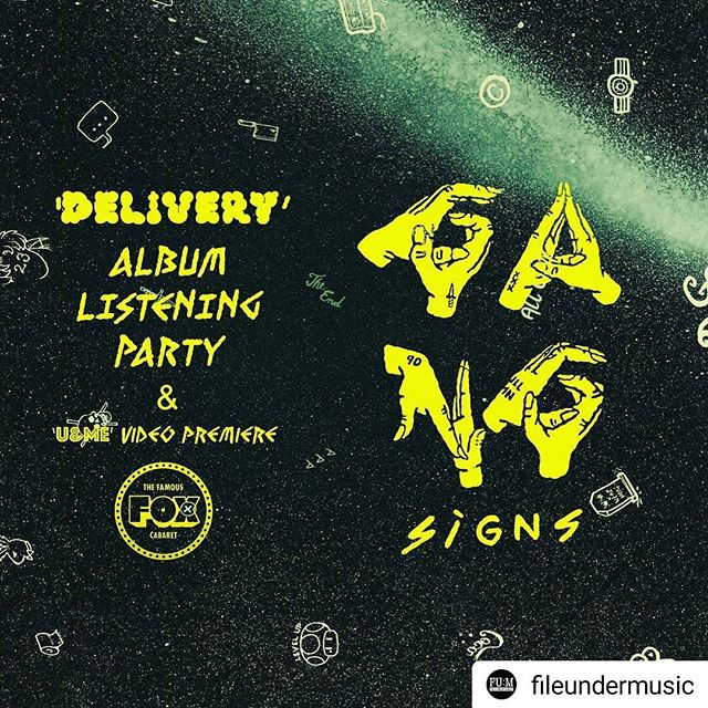 Gang Signs listening party = New Album.  @gangxsigns