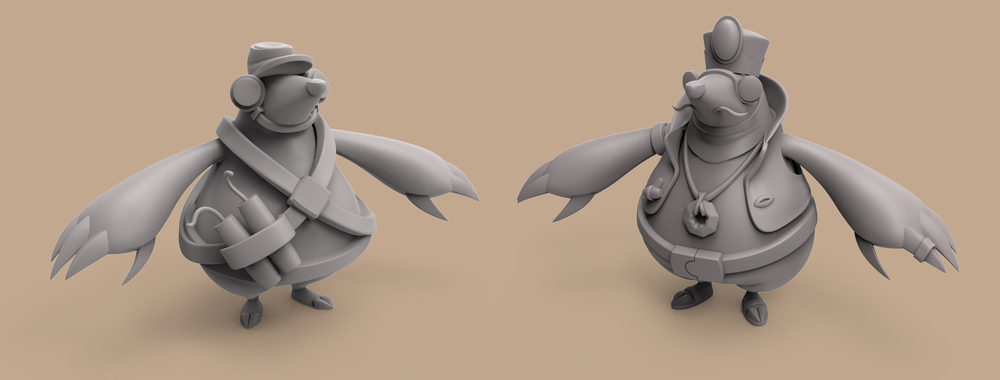 Game: Wild Passage   Molefolk Design Process - Concept Sculpt