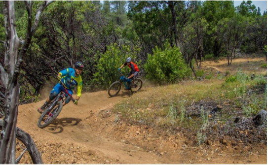 Cyclist's completing the Mayor's Mountain Bike Challenge in Northern California