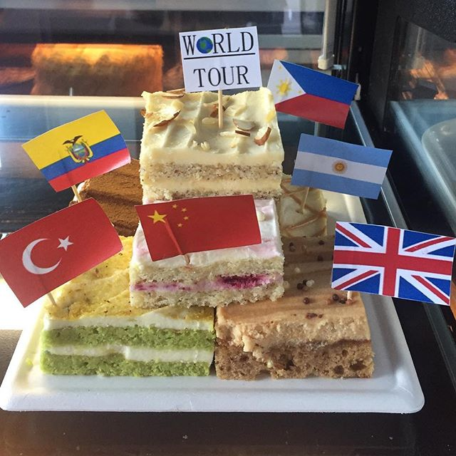 Come to La Rocca Café today to try our new 'World Tour' line up. Taste flavours from all over the globe. #CraveLarocca #LaroccaCakes #EatCake