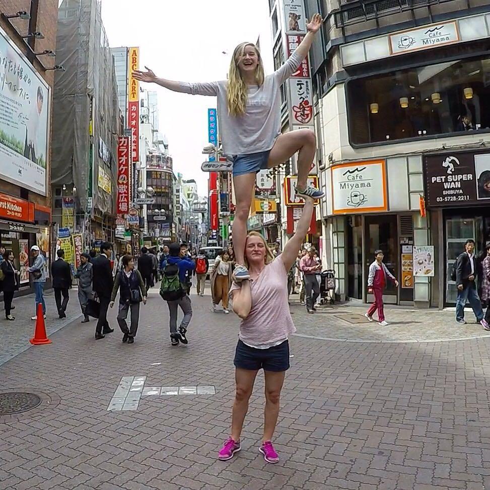 Yogabatics in downtown Tokyo