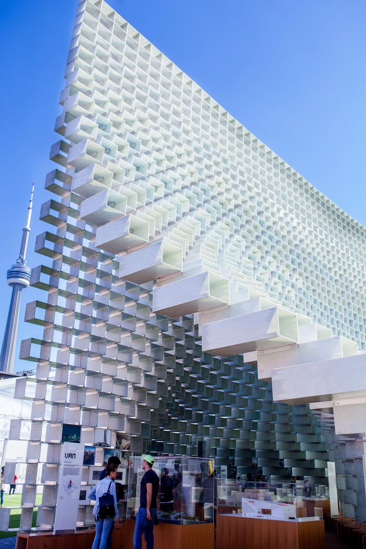 Unzipped pavilion Bjarke Ingels Toronto Architecture Toronto Architect Ontario Design Westfield Katia Marten Blogger After 50 Kupfert and Kim