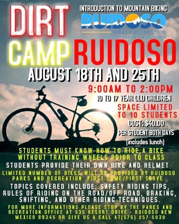 Dirt Camp Ruidoso Intro to Mtn Biking