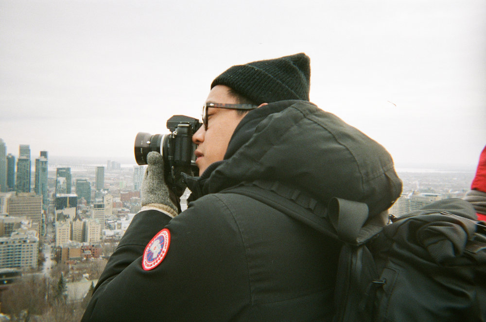 Drew at Mount Royal - Kodak Funsaver