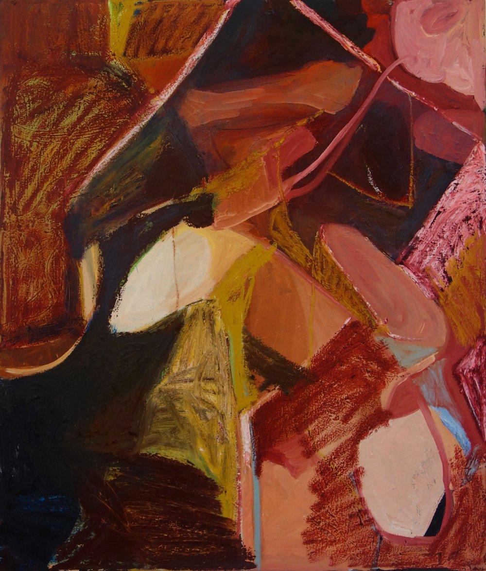 Moist (Plaka)  Oil and bar on Canvas  26 x 42 IN  2017