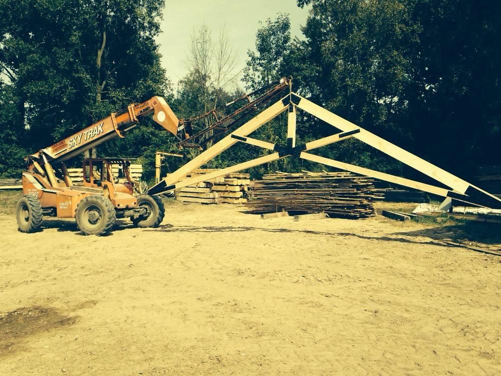Log n iron for Scissor roof truss prices