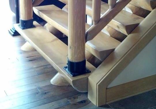 Half Round / Half Log Staircase