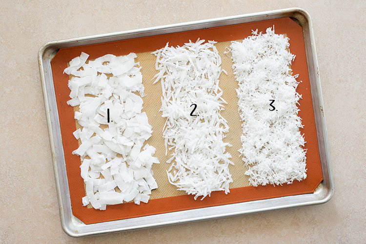 1. Flakes                         2. Shredded                   3. Desiccated