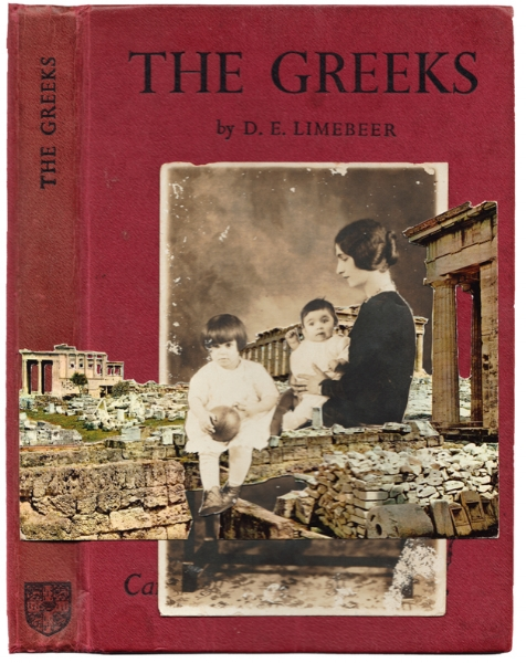 The Greeks 2016  Found photograph and old postcard collage on book cover