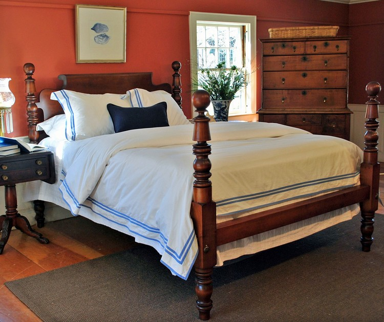 Leonards Cannonball & Bell Lowpost Bed — Leonards Antiques