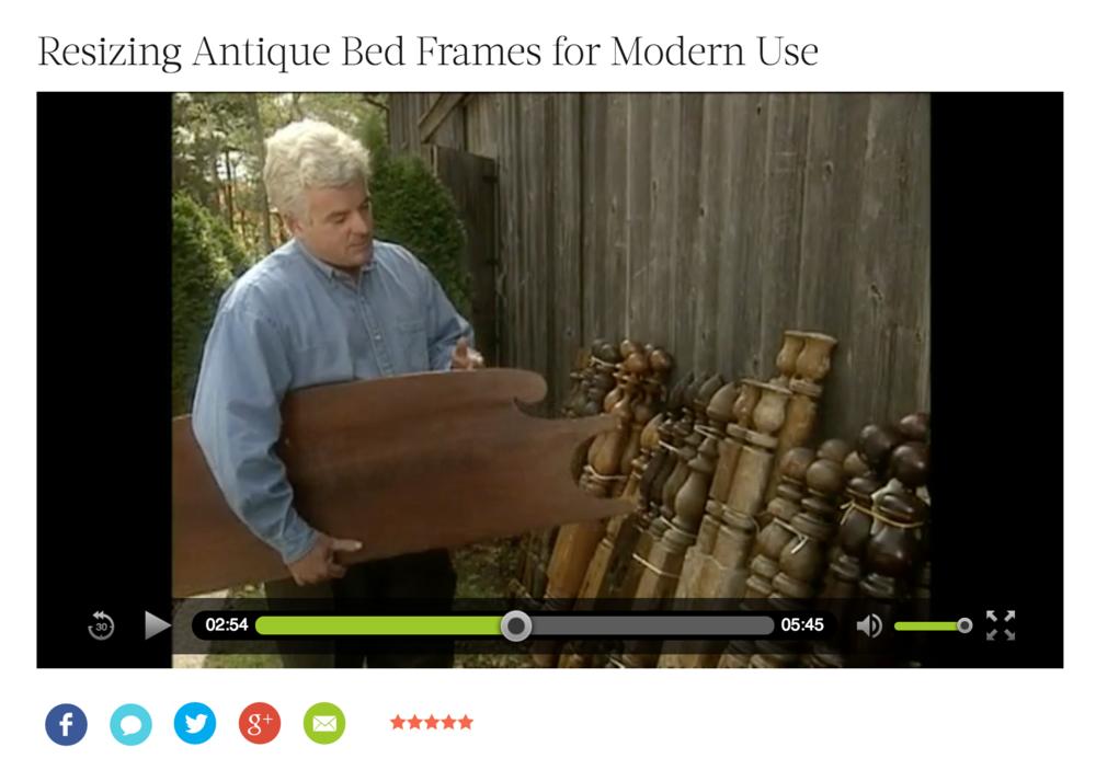 Martha Stewart - Resizing Antique Bed Frames for Modern Use ...