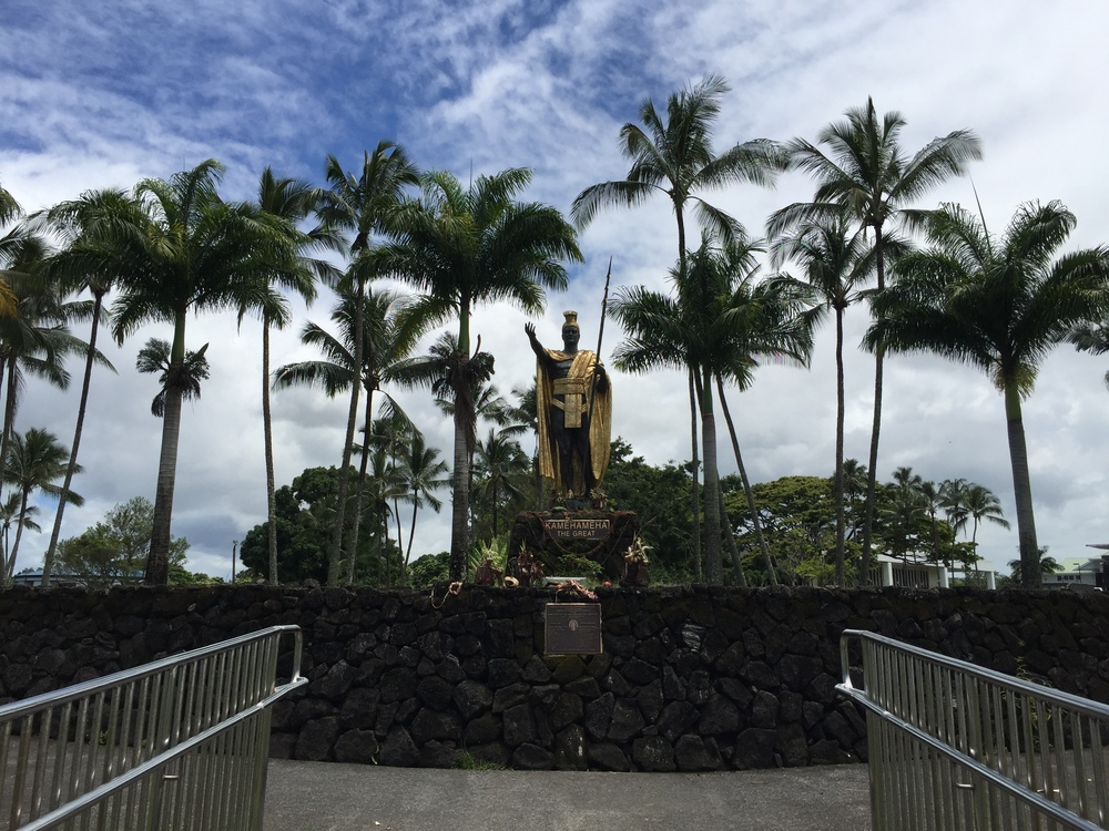 King Kamehameha Statue      Made in the likeness of the great King of Kamehameha who unified the Hawaiian islands.