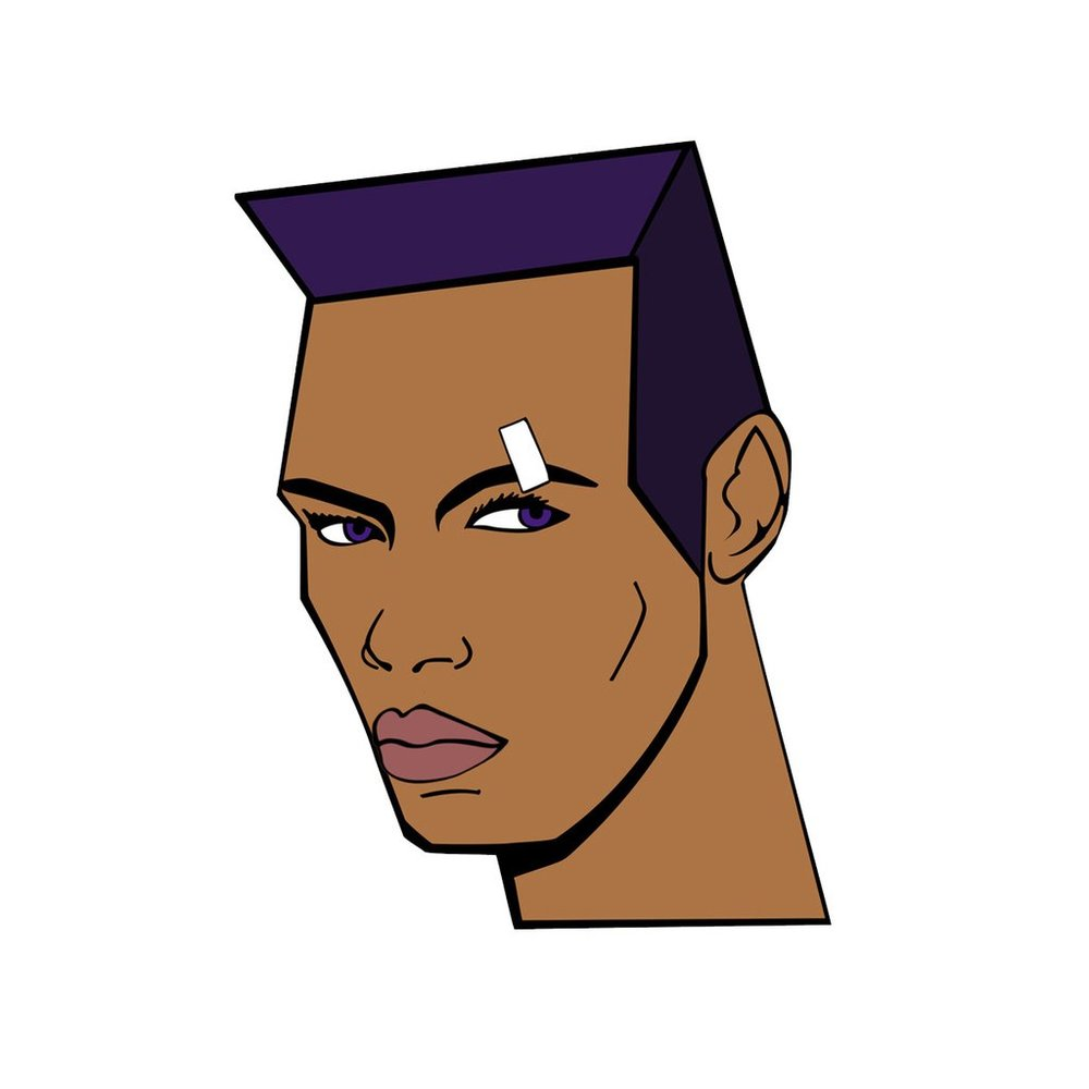 Grace Jones pin by  Rich Kids  £75