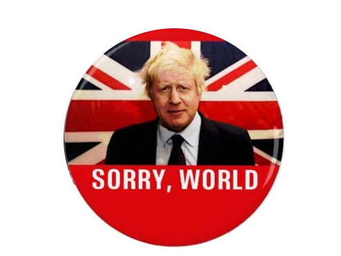 Boris Johnson badge/magnet by  The Square Penguin  £1.10