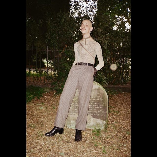 @pissblonde at the Judas #4 KAMIKAZE issue launch party at the Old Church cemetery. ⛪️ Photo by: @noclone_