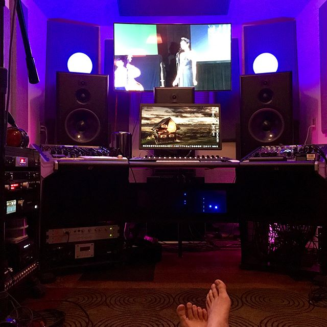 Late night studio time... @bwinparis  @shadowhillsindustries @millenniamedia @atc_loudspeakers @dangerousmusic @apogeedigital @nativeinstruments @manleylabs