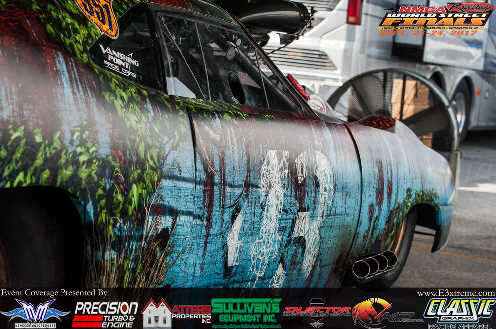 Craig Sullivan's beautiful retro Pro Mod. Ran one of the best passes of his career yesterday with a 3.95