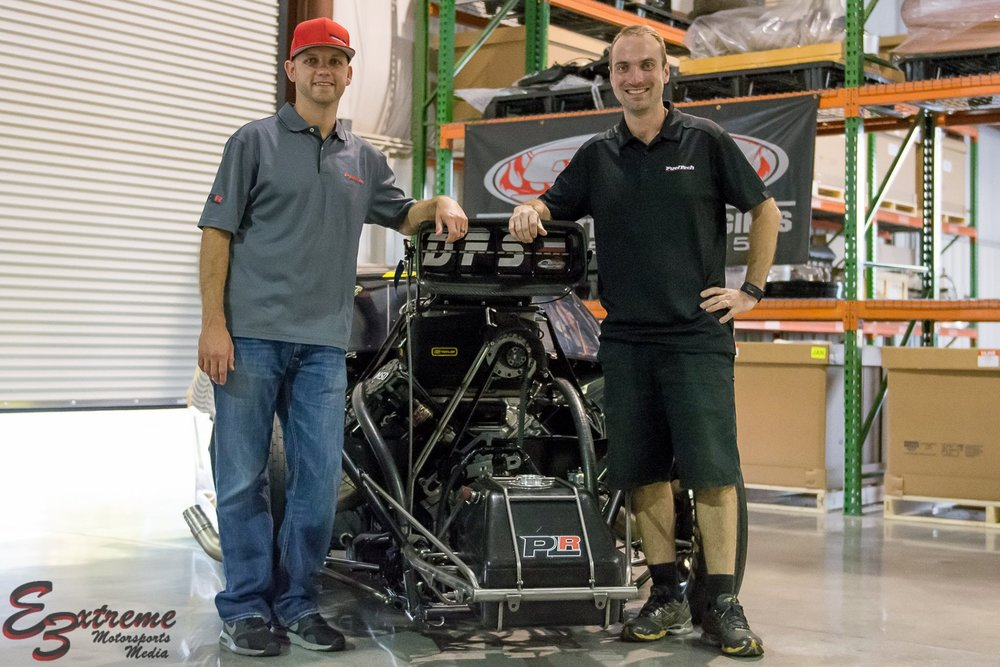 eric dillard (left) with fuel tech's anderson dick (right)
