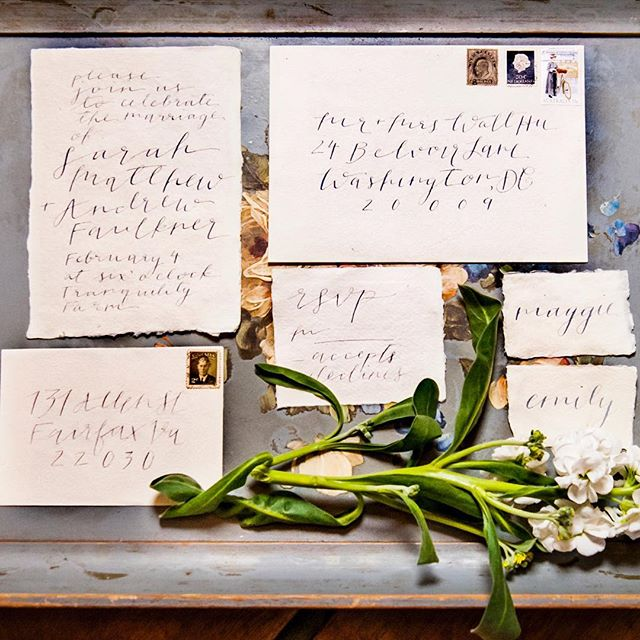 Spring is basically here and so Is wedding invitation season! Here's some inspiration from a dreamy organic suite I did last month. Paper is @silkandwillow, ink is hand-mixed gouache with Nikko G Nib. ... Kudos to all the amazing vendors at this shoot! Baked goods: @signaturesweetsbyamanda Signage: @leahletters_ Décor Styling: L&L Events (Linnie) // IG: @l.and.l.events Florals: @thepinkpoppy_customdesigns  Model: @ktj30 Photography: @foxandowlphotography Rentals and Décor: @bellavillashop Venue: @tranquilityfarmweddings