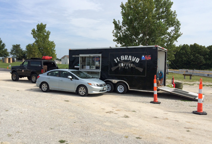 11 Bravo Coffee Truck at the Wentzville VFW.