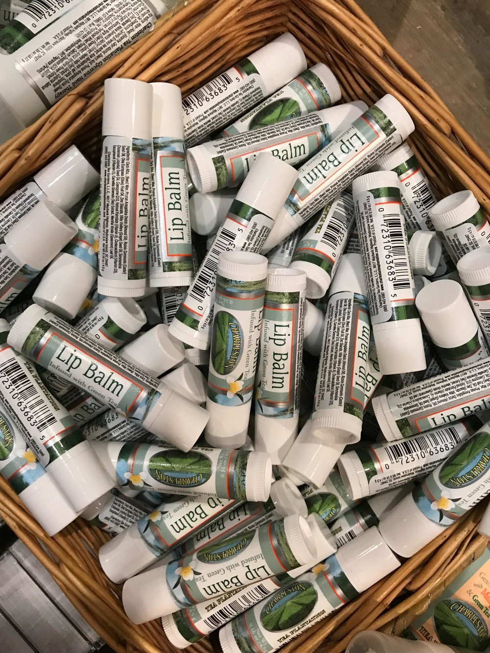 charleston tea plantation lip balm