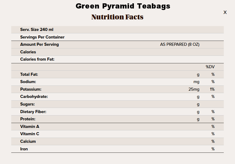 green pyramid tea nutritional info.png