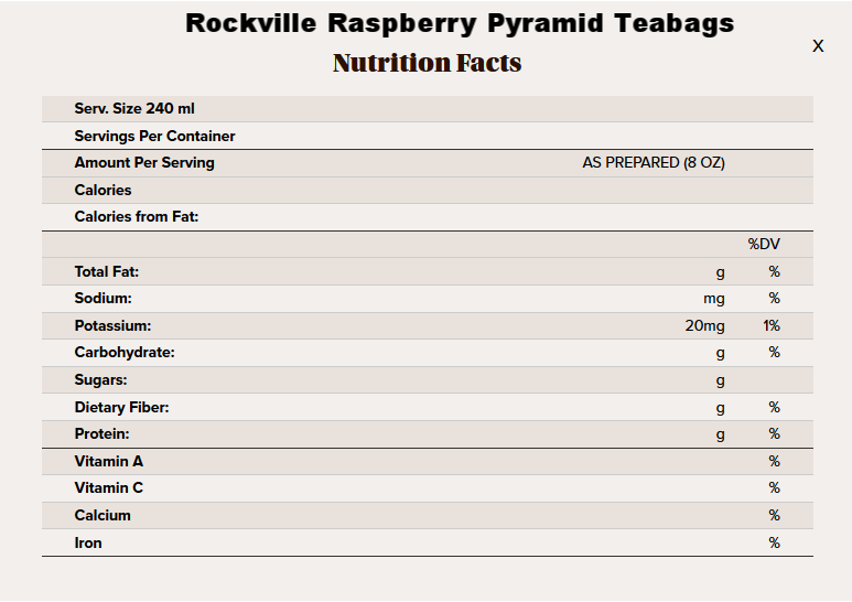 Raspberry pyramid tea nutritional info.png