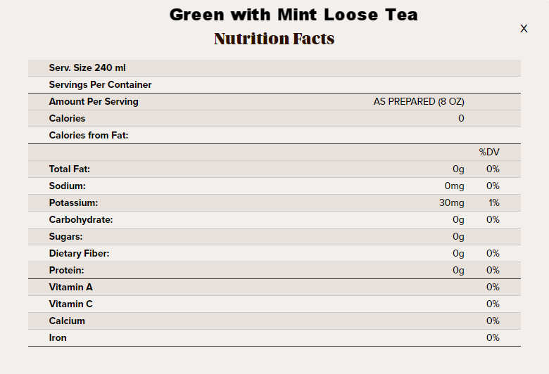 IGM loose tea nutritional info.png