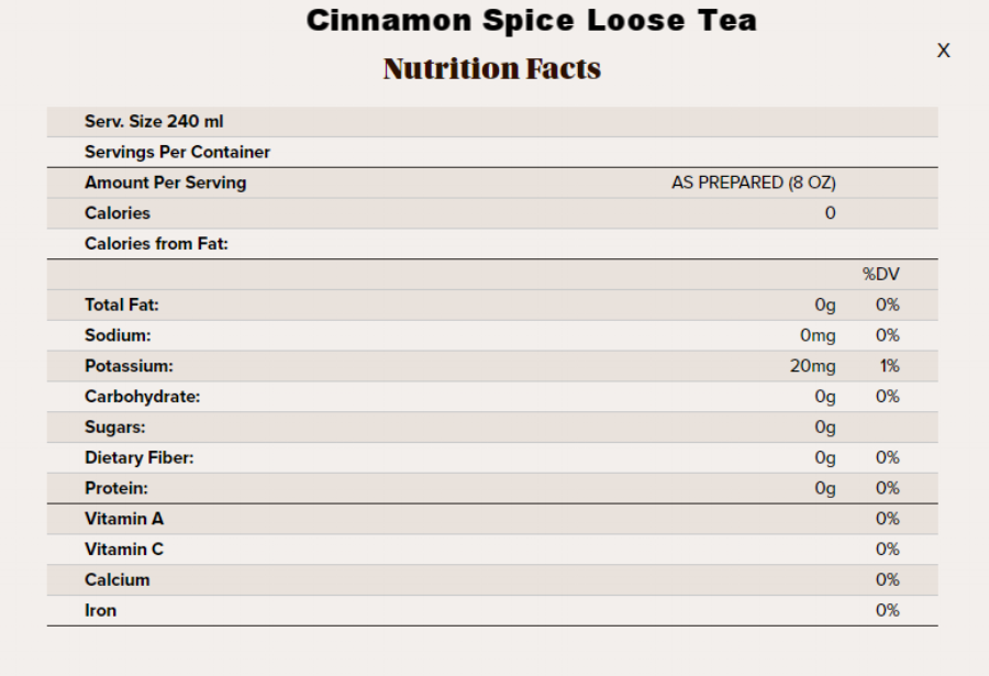 cinnamon spice loose tea nutritional info.png