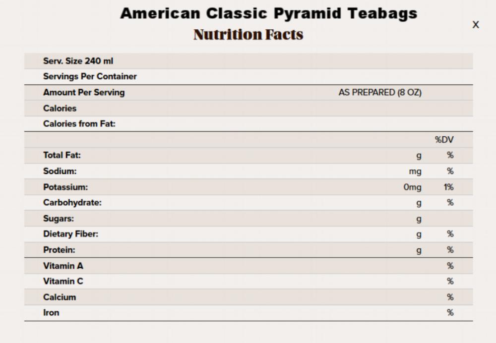 american classic pyramid tea nutritional info.png
