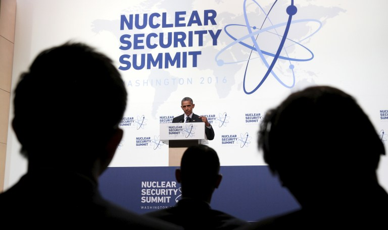 U.S. President Barack Obama speaks during a press conference at the conclusion of the Nuclear Security Summit in Washington April 1, 2016. REUTERS/Kevin Lamarque