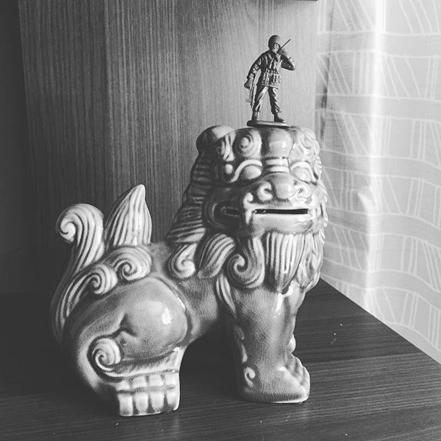It looks like Carla's boys have been helping style her shelves. #shelfie #homedecor #womenirl #callingforbackup #motherhood
