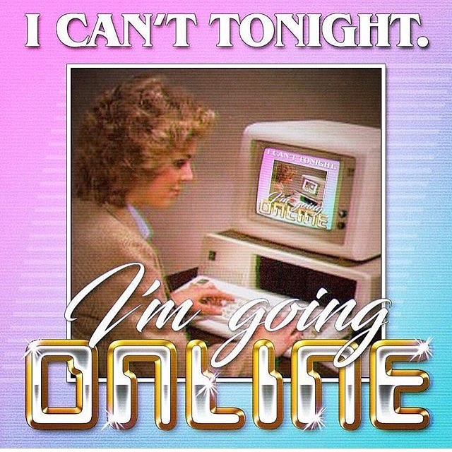 It's been a long week, right?! If you're looking to avoid weekend plans we've got you covered! Simply say... #icanttonightimgoingonline 💅🏻💻🙅