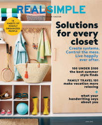 As seen in RealSimple, June 2016