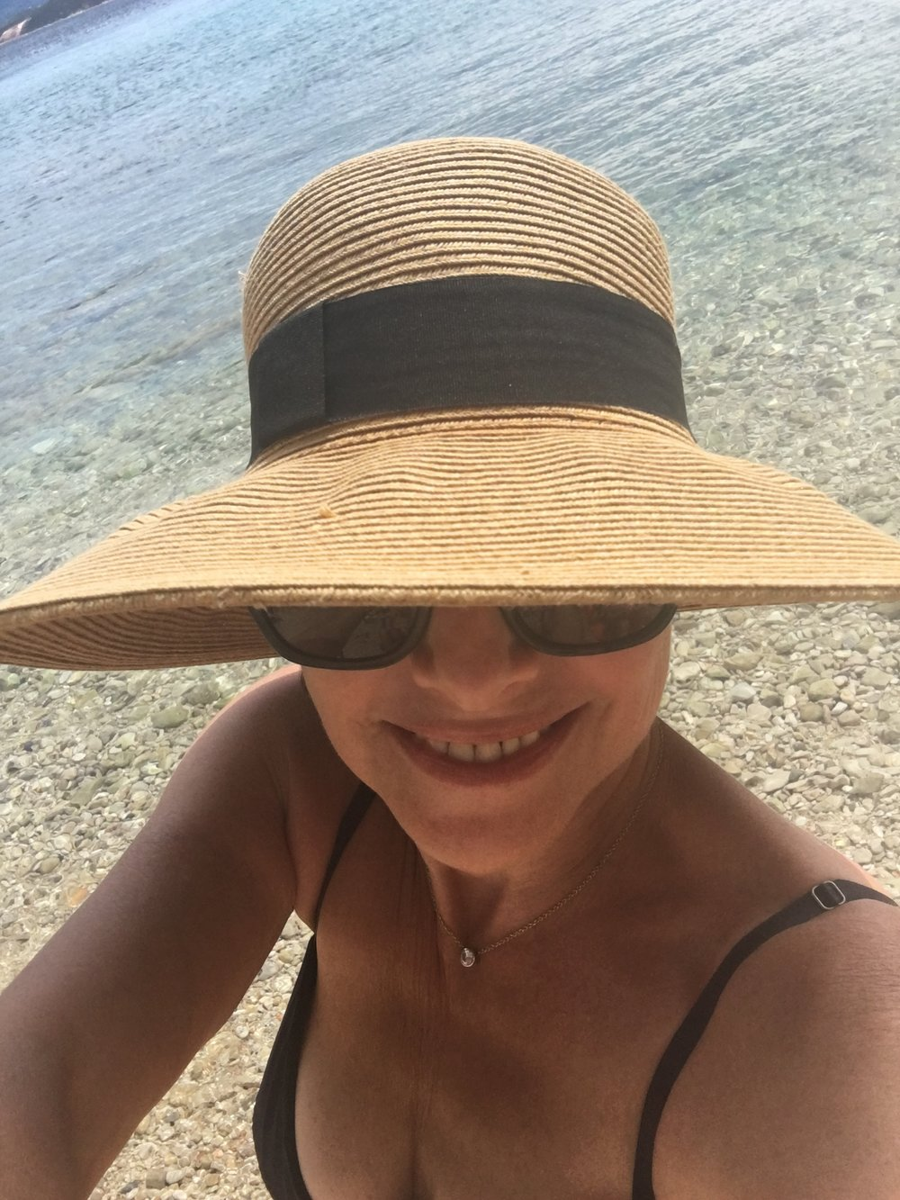 selfie iN the town of Bol, Croatia