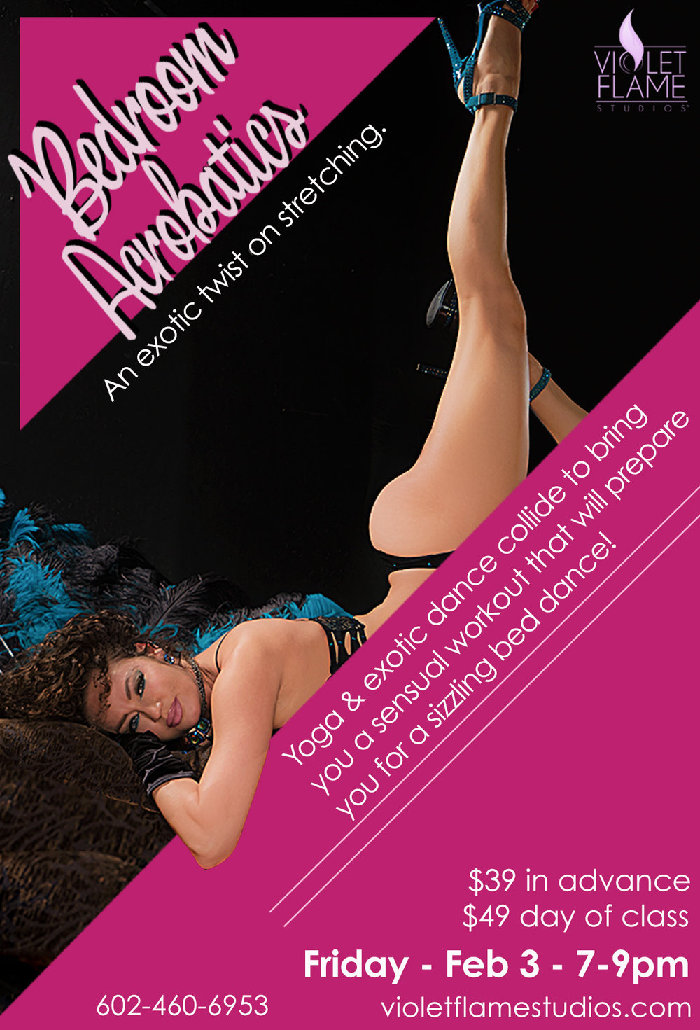 Learn bed dance, bedroom acrobatics, lap dance, strip-tease for your lover on Valentine's Day!