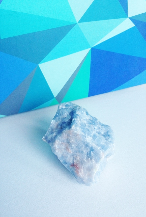 Blue Calcite brings relaxation into your life without having to ask for it. Blocks negativity and helps direct your life to happiness.
