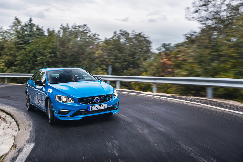 The current Volvo Polestar -- still manufactured by Volvo cars, adorned with the main logo, and powered by gasoline. PC Motor Trend.