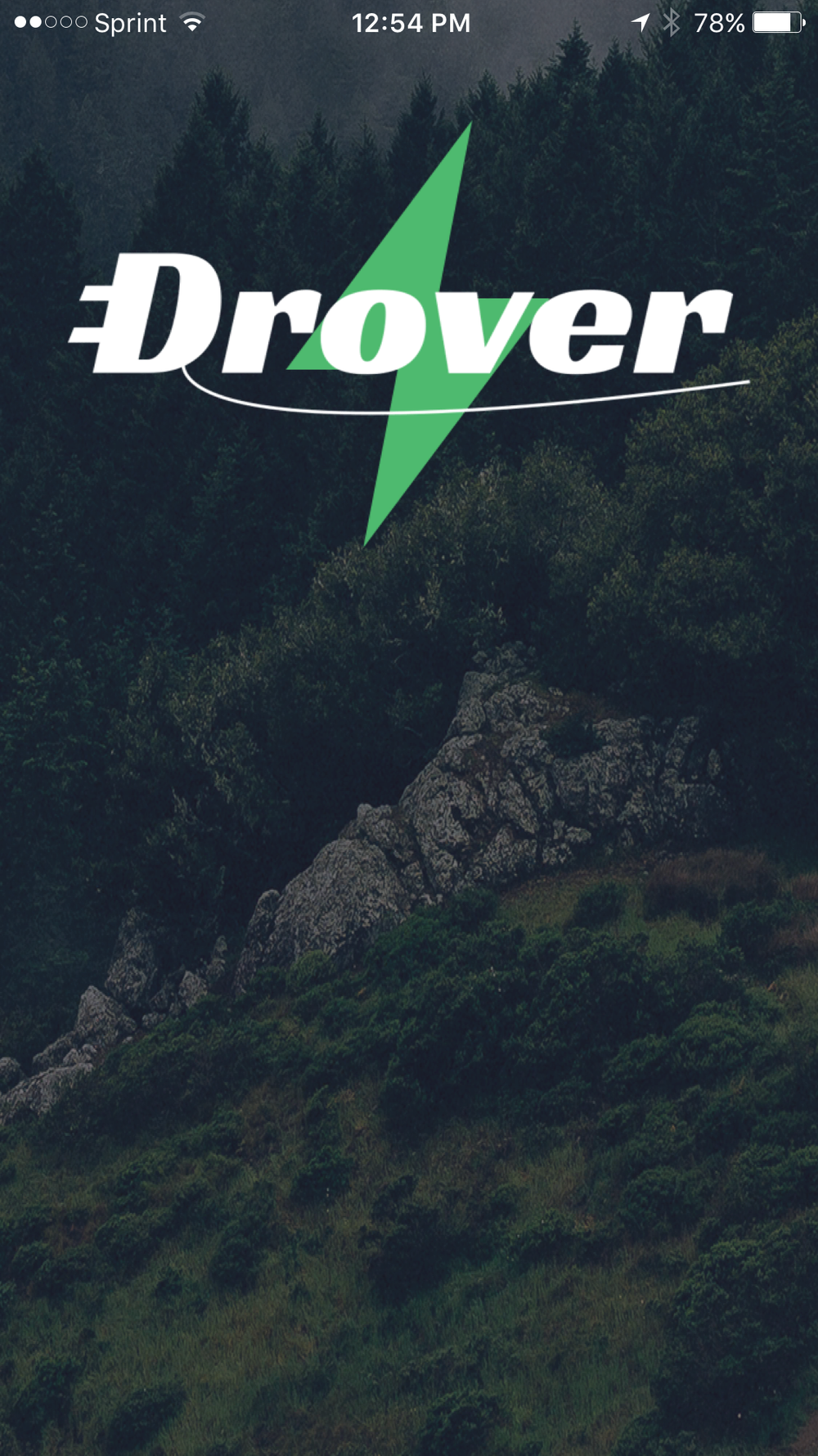 Drover App Launch Screen