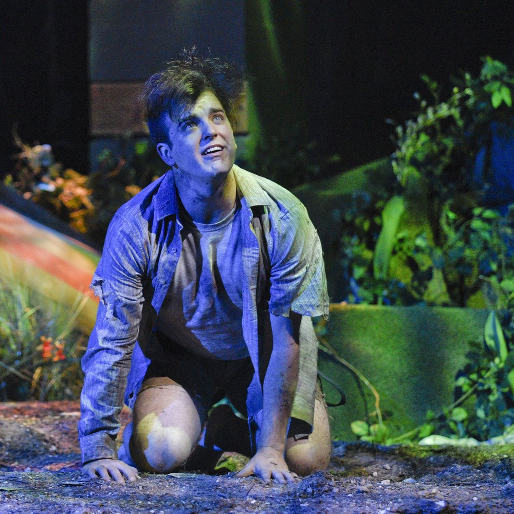 LORD OF THE FLIES by William GoldingAdapted by Nigel WilliamsWaterTower Theatre - Directed by Kelsey Leigh ErviScenic Design by Bradley GrayLighting Design by Dan SchoedelCostume Design by Sylvia FuhrkenSound Design by Kellen VossPhotos by Karen Almond