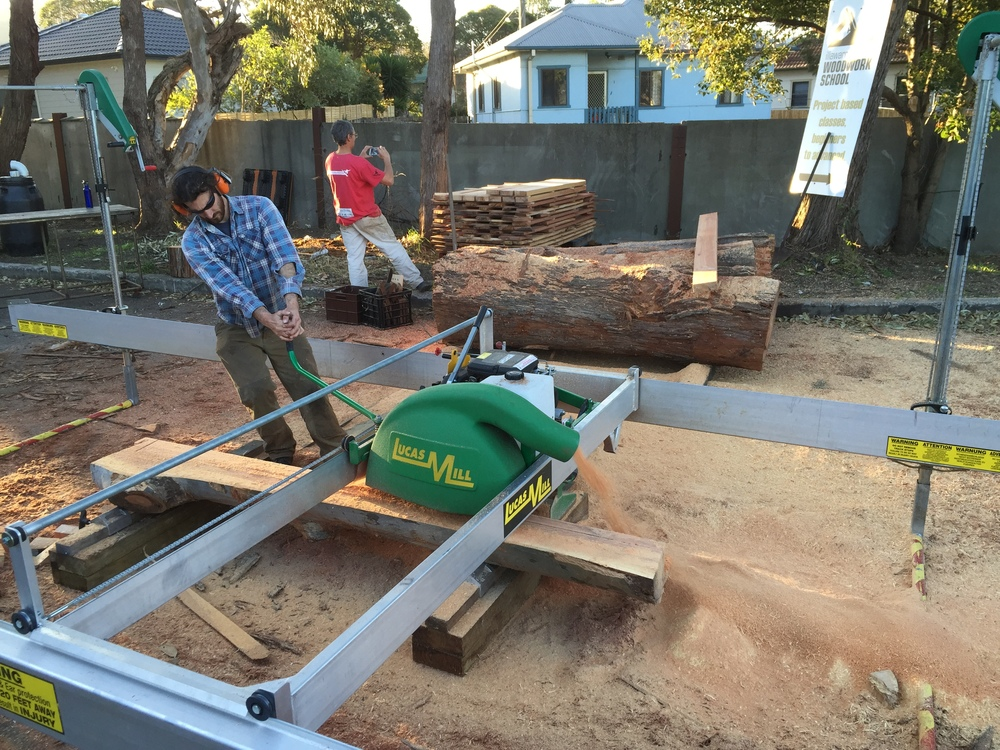 Upcoming timber milling at Illawarra Woodworking School in March 3rd